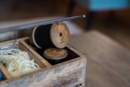 Pelote de laine pour cette ancienne filature