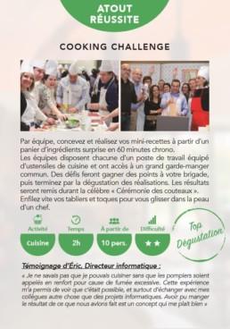 Carte détaillant l'activité Cooking Challenge à Clamart