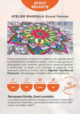 Animation Mandala - Art Clamart - ArtForMe -Creativite team building